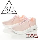 TAS愛心幾何綁帶休閒鞋-櫻花粉