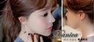 耳環 現貨 韓國 氣質 甜美 珍珠 弧形 寶石 不對稱 後掛 長耳環 S92037 Danica 韓系飾品 韓國連線