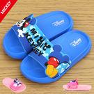 男女童 迪士尼 Disney 米奇米妮 歡樂米奇不對稱 柔軟舒適 MIT製造 兒童拖鞋 休閒拖鞋 59鞋廊
