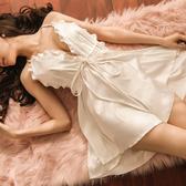 爆款新款女士吊帶性感綢緞睡衣露背美女時尚家居服夏季仿真絲睡裙