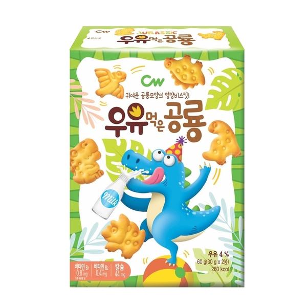 韓國 CW 恐龍造型餅乾 60g 牛奶 巧克力 起司 兒童餅乾 8586