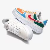 Nike 休閒鞋 Wmns Air Force 1 07 LX 白 彩色 女鞋 撕撕樂 特殊鞋面設計 運動鞋 【PUMP306】 CJ1650-101