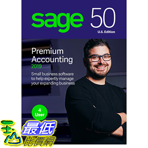 [8美國直購] 暢銷軟體 Sage 50 Premium Accounting 2019 – Advanced Accounting Software – Safe and B07FMT5DNS