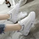夏季新款小白鞋女鞋子百搭薄款網面透氣運動板鞋爆款白鞋 扣子小铺