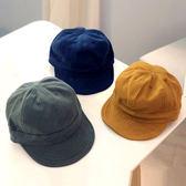 帽子 韓版 兒童 軟沿 報童帽 鴨舌帽