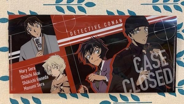 【震撼日式精品】名偵探柯南Detective Conan~文件夾/袋-紅黑*53179