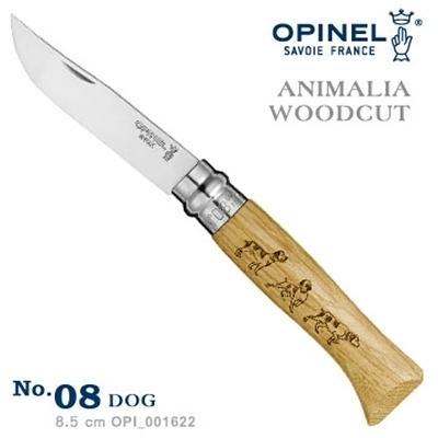 OPINEL ANIMALIA - WOODCUT 法國刀動物圖騰系列-狗圖騰 No.08 #OPI_001622【AH53044】i-style居家生活