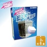 【MAGIC POWER】洗衣槽專用藍白雙效氣泡錠-小資回饋18錠組