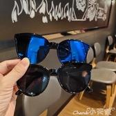 兒童墨鏡韓版男女童時尚太陽鏡寶寶街拍走秀眼鏡小童防紫外線墨鏡 小天使
