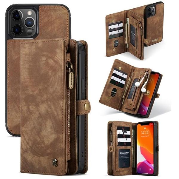 Iphone 12 / 12 Pro / 12 Pro Max / 12 Mini 商務可分離皮套殼 翻蓋磁扣 帶卡槽套