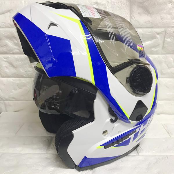 【東門城】THH T-797A+ ENIX (白/藍黃) 可掀式安全帽 雙鏡片 (新品預購)