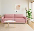 【歐雅系統家具】米寧布沙發-三人座-粉紅/ 沙發 / 三人沙發 / 12層內材 / 金屬椅腳