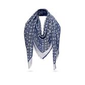 LV全新真品Monogram Denim 雙色 披肩/方巾/圍巾 M72046(深藍色/珠光灰) ~現貨特價