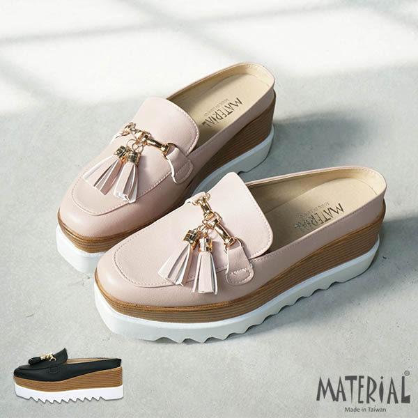 厚底鞋 流蘇後空鬆糕厚底鞋 T5260