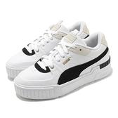 Puma 休閒鞋 Cali Sport Heritage Wns 白 黑 厚底 增高 女鞋 小白鞋【ACS】 37308001
