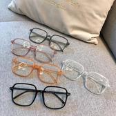 復古方形黑色粗框眼鏡女ins大臉顯瘦素顏神器網紅韓版近視眼鏡框