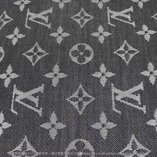 Louis Vuitton LV M71378 Monogram Denim 經典花紋羊毛絲綢披肩圍巾.黑 全新 現貨【茱麗葉精品】