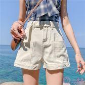 2019新款 韓版大尺碼牛仔短褲女 夏chic高腰寬鬆顯瘦a字闊腿熱褲