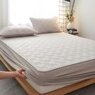 床罩 棉質床笠單件夾棉加厚席夢思床墊保護罩防滑固定防塵床套床罩定制【幸福小屋】