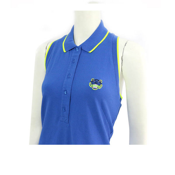 【KENZO】削肩棉質無袖洋裝 (寶藍色) 2R0856981 74