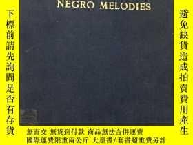 二手書博民逛書店twenty-four罕見negro melodies(黑人曲調
