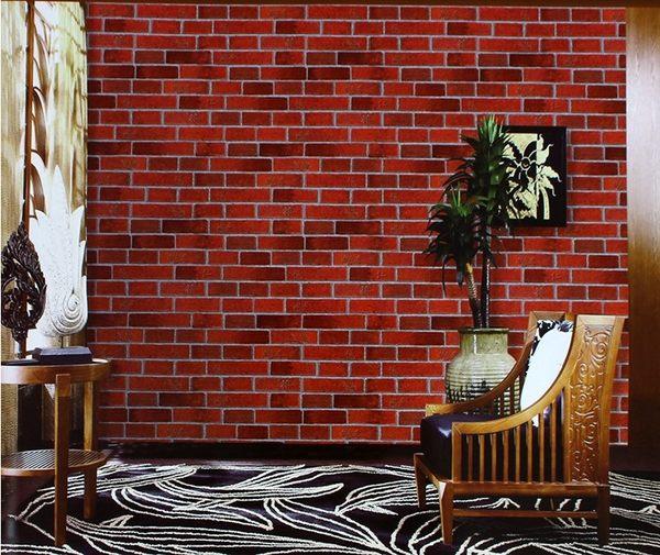 中式複古仿古磚紋文化石磚塊壁紙青紅灰白磚牆紙酒吧飯店牆裙壁紙SSJJG【時尚家居館】