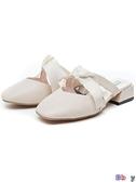 Bay 穆勒鞋 平底 包頭 穆勒鞋 低跟 蝴蝶結 一字 半拖鞋 仙女拖