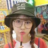 現貨-韓版ulzzang新款超大金屬鏡框大臉顯瘦眼鏡女復古平光鏡架可配近視眼鏡54