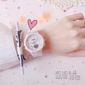 櫻花少女手錶女ins風 高中學生韓版簡約網紅獨角獸防水超火電子錶 衣櫥秘密
