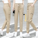 工裝褲女束腳顯瘦2020年春夏季新款韓版寬鬆高腰小個子百搭休閒褲 依凡卡時尚