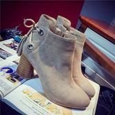 ❤Princess x Shop ❤秋  女靴子馬丁靴短靴子短筒粗跟高跟鞋流蘇鞋單靴坡跟涼