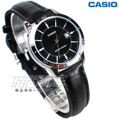 CASIO 卡西歐 LTP-V004L-1A 指針錶 城市時刻 日期顯示窗 皮帶 女錶 防水錶 黑色 LTP-V004L-1AUDF