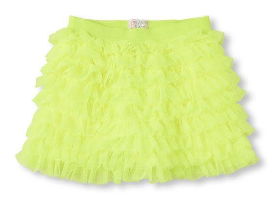 Place短裙   蛋糕裙圖案設計款黃色短裙