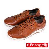 【ferricelli】Air Equus彈性鞋帶減震氣墊休閒運動鞋  棕色(F47850-BR)