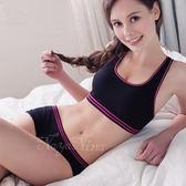 撞色彩條無縫低腰平口褲S-XL(黑)《SV5912》快樂生活網