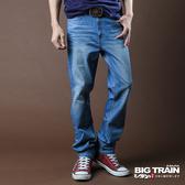 BIG TRAIN   COOLMAX涼爽彈性直筒褲-男-中藍-BM201274