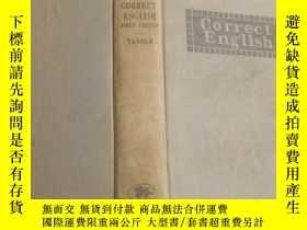 二手書博民逛書店民國外文原版罕見correct english first co