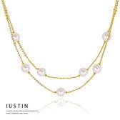 Justin金緻品 黃金珍珠項鍊 珍情 珍珠套鍊 金飾 9999純金項鍊