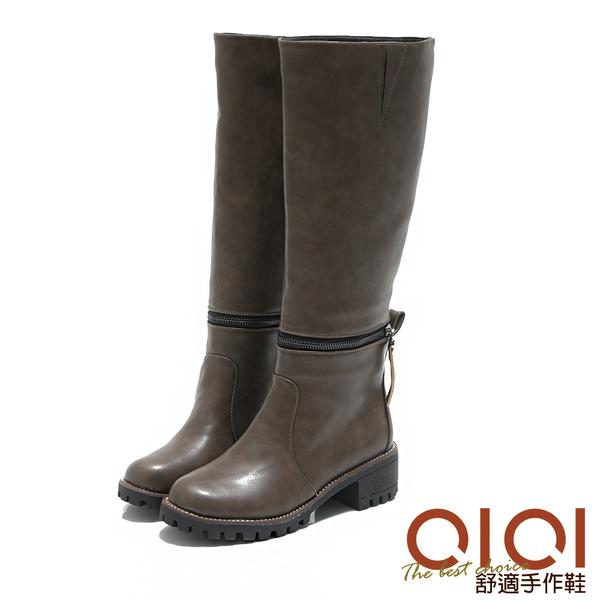 長靴 雙重美學2穿極簡騎士長短靴(卡其) *0101shoes【18-1788ca】【現貨】
