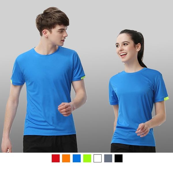 【晶輝團體制服】P2210*袖口領口配色快速排汗T恤