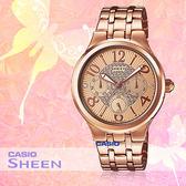 CASIO 卡西歐 手錶專賣店 SHE-3808PG-9A 女錶 不鏽鋼錶帶 一觸式3倍扣 防水