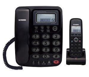 WONDER 旺德2.4GHz高頻數位無線電話 WT-D02子母機(黑、紅、白三色可選) 《刷卡分期+免運費》