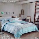 天絲棉 TENCEL【兩用被床包組】5*6.2尺 御元居家『波瀾』四件套天絲棉寢具