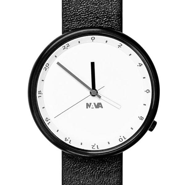 NAVA Wherever系列 雙時區腕錶(黑)