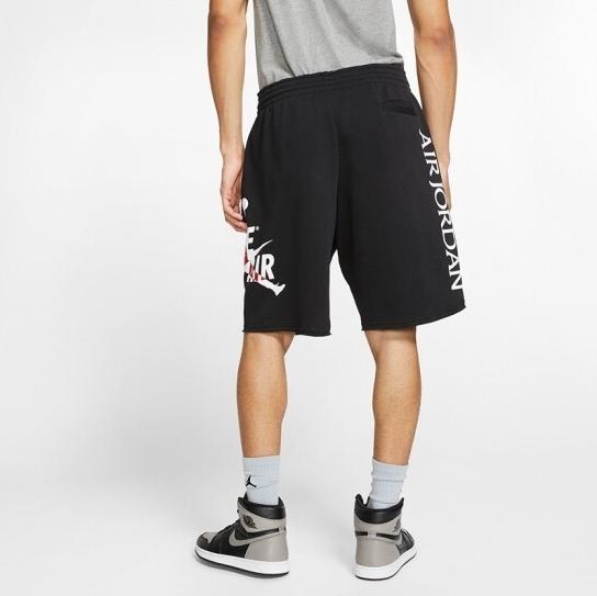 NIKE JORDAN JUMPMAN CLASSICS 黑 側大LOGO 棉 短褲 (布魯克林) CJ1919-010