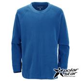 PolarStar 台灣製造 中性圓領刷毛保暖衣『藍』MIT│休閒│露營│機能衣│刷毛衣│抗靜電│P16207