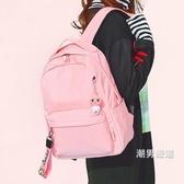 後背包 中學生書包女雙肩包 新品 正韓原宿ulzzang 高中簡約初中背包