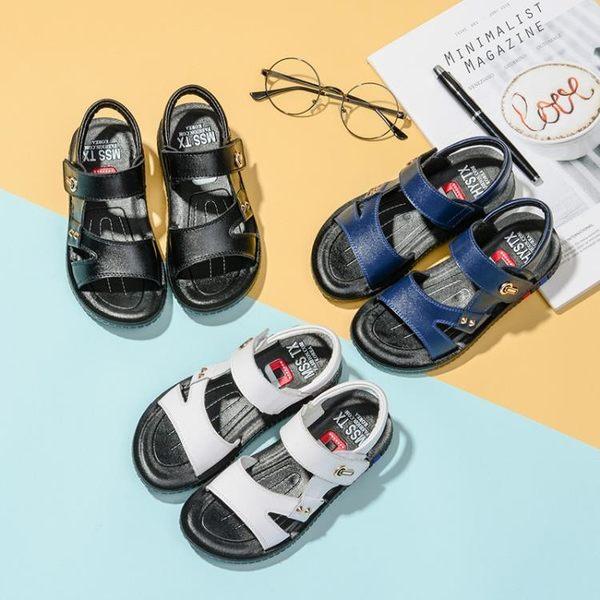 童涼鞋夏季真牛皮小童涼鞋男1一3歲嬰幼兒童夏軟