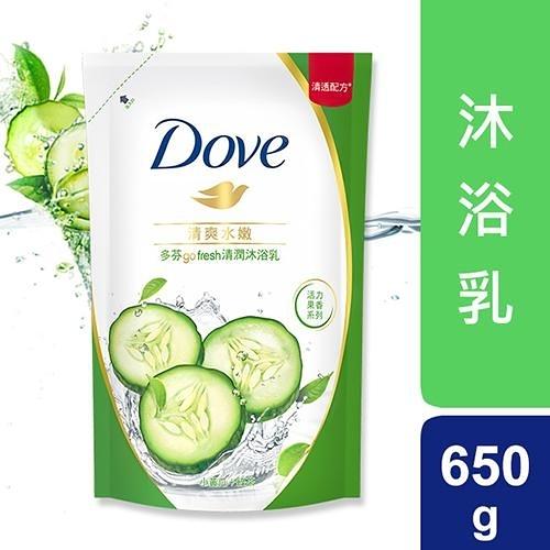 多芬Dove清爽水嫩沐浴乳補充包650ml【愛買】