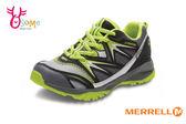 MERRELL 男童運動鞋 中童 防水 透氣 耐磨抓地 CAPRA B LL WP 多功能綁帶運動鞋G8361#灰黃◆OSOME奧森童鞋